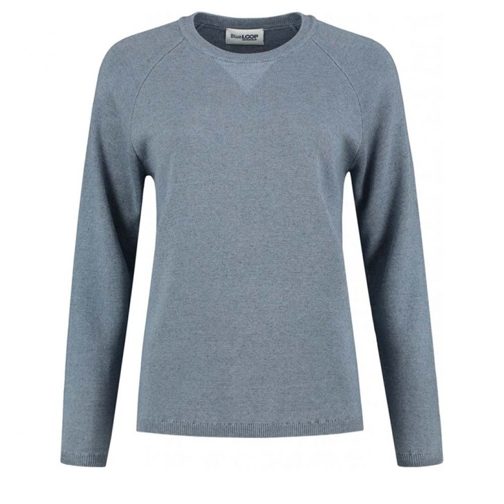Blue Loop College Sweater Women