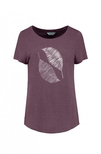 Blue Loop Pure Scrible Leaves T-Shirt W XL / purple