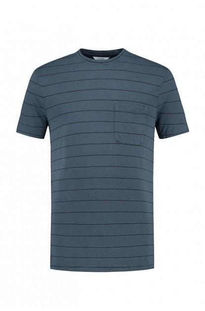 Blue Loop Pure Stripe T-Shirt