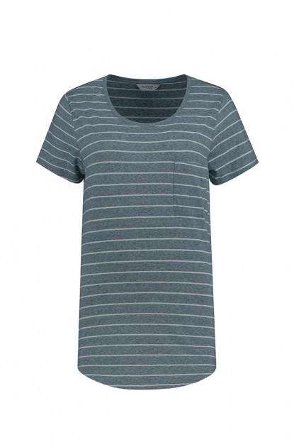Blue Loop Pure StripeT-Shirt + Pocket W