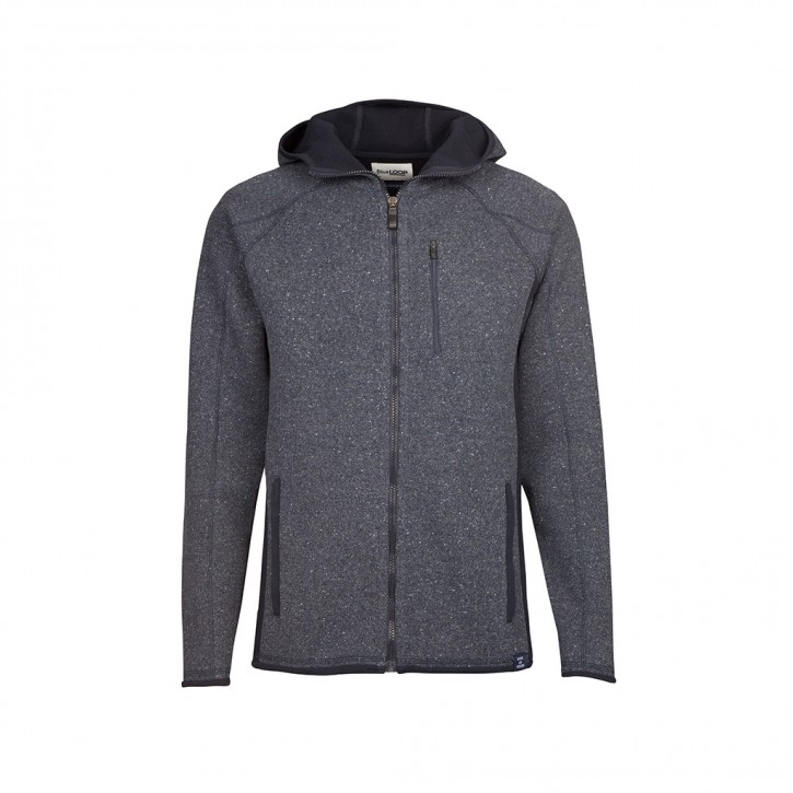 Blue Loop Raw Hooded Cardigan