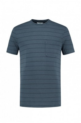 Blue Loop Pure Stripe T-Shirt L / grey/sea blue