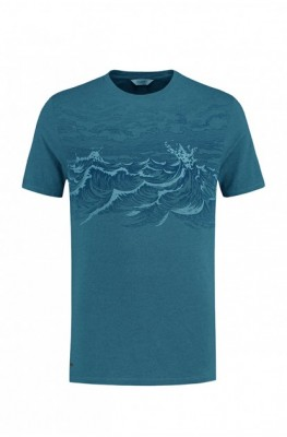 Blue Loop Pure Waves T-Shirt M / petrol