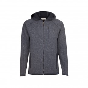 Blue Loop Raw Hooded Cardigan L / blue