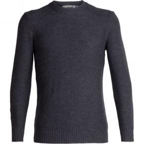 Icebreaker Mens Waypoint Crewe Sweater M / charcoal heather